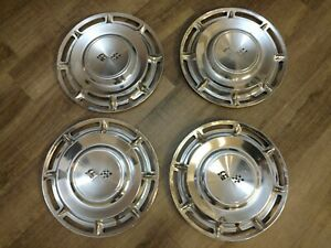 Chevy Impala 1960 14 Hub Caps Used Set Of 4 Hubcaps