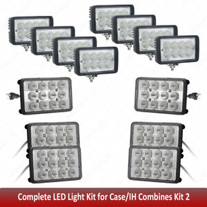 Led Agricultural Tractor Lights Kit For Case Ih 6x4 Led Headlights High Low Beam