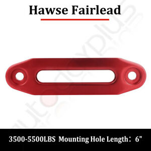 Red Aluminum Hawse Fairlead For Synthetic Winch Rope Cable Lead Guide Atv Utv 6