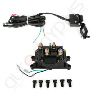 New Contactor Winch Rocker Combo 12v Solenoid Relay Thumb Switch For Atv Utv Us