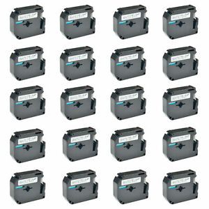 20pk For Brother Tape Label M k231 Mk231 M231 Black On White P touch Pt 100 12mm