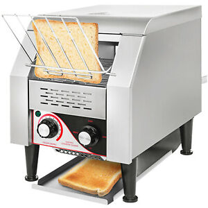Commercial Conveyor Toaster 150pcs h Electric Conveyor Toaster Stainless Steel