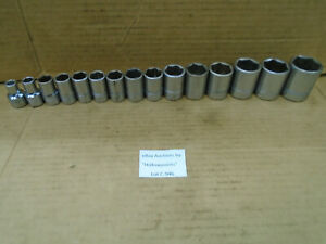 C946 Williams Usa Lot Of 15 Sockets 1 2 Drive 6 Pt 3 8 To 1 1 4 Read Listing