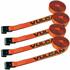 Vulcan Winch Strap With Flat Hook 2 Inch X 27 Foot 4 Pack Proseries 3