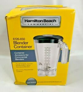 Brand New box Damage Hamilton Beach 64 Oz Polycarbonate Blender Jar