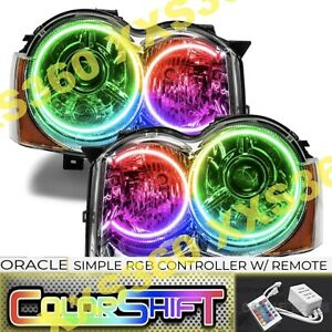 Oracle Halo Headlights Hid Style For Jeep Grand Cherokee 08 10 Colorshift Simple