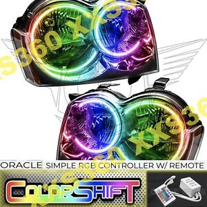 Oracle Halo 2x Headlights N Hid For Jeep Grand Cherokee 05 07 Colorshift Simple