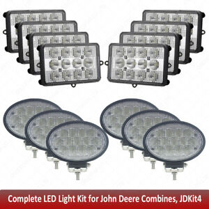 For John Deere Combine Led Upper Cab Light Kit 9450 9550 9650 9560 9660 9660cts