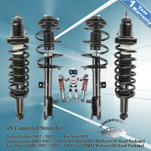 4x Front Rear Struts Shock Absorbers For Jeep Compass Patriot Dodge Caliber