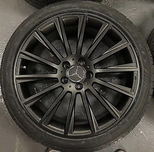 Set Of 4 Oem Mercedes Amg 20 Black Wheels Tires Rims S560 S450 S63 S Class