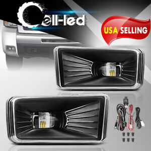 Pair Front Driving Led Fog Light For 07 13 Chevy Siverado W bulbs Complete Kits