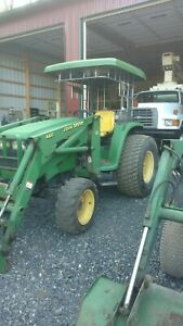 John Deere Tractor 4500 With 4 In 1 Bucket 460 Loader 1 Owner 4 X 4 Farm Utility