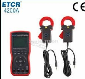 New Etcr4200a Intelligent Double Clamp Digital Phase Volt ampere Meter 40mm Mx
