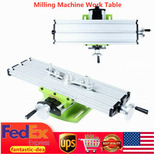 New Milling Machine Work Table Cross X y Slide Bench Drill Press Vise Table Usa