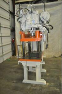 28 Ton Greenlee Hydraulic Trim Press 18 Stroke 28 Daylight 6 Main Cylinder Di