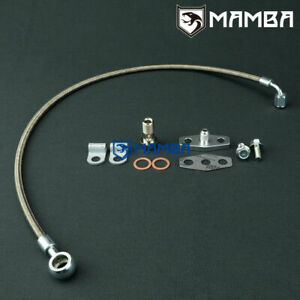 Mamba Turbo Oil Feed Line Kit Mercedes Benz 81 85 W123 300d Om617 Garrett Tb03