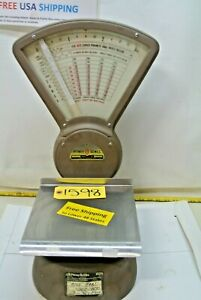 Vintage Pitney Bowes Postage Mailroom Scale 0 To 3 Lbs Model S 103 15481