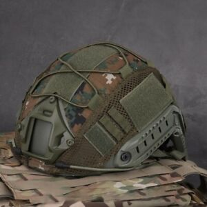 Tactical Military Airsoft Hunting Camo Helmet Cover For Ops-Core PJBJMH Helmet