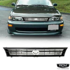 Fit For Toyota Corolla 93 97 Front Grill Black Grille crown Logo