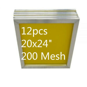 20 X 24 12 Pack Aluminum Frame With 200 Mesh Silk Screen Printing Screens