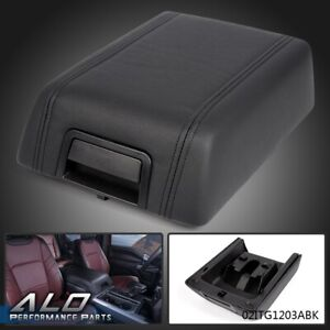 Center Console Arm Rest Lid Cover Pad Leather For 2004 2008 Ford F 150 Black