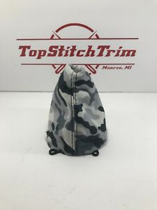Fits 2006 11 Honda Civic Si Black And White Camo Print Suede Shift Boot