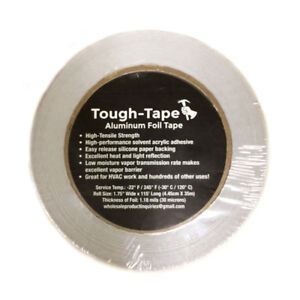 1 Roll 1 75 X 115 Aluminum Foil Tape High Temp For Vapor Barrier Hvac Etc