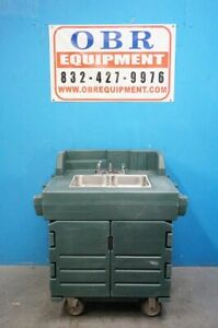 Cambro Green Camkiosk Portable Self contained Hand Sink Cart Model Ksc402
