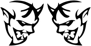 Dodge Demon Sticker For Cars Trucks Exterior Glass Headlights 3 In High Decal