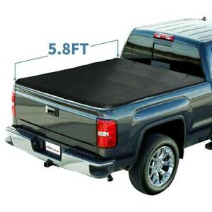 5 8ft Tri Fold Tonneau Bed Cover For 2014 2018 Chevy Silverado Gmc Sierra 1500