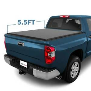 5 5ft Tri Fold Tonneau Bed Cover For 2014 2019 Toyota Tundra Waterproof