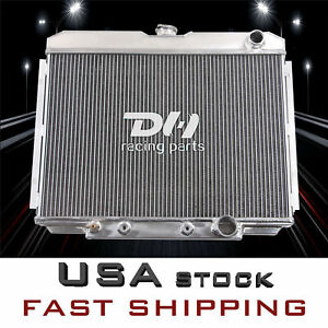 3row Aluminum Radiator For Ford Mustang Mercury Cougar 67 68 69 70 24 Wide Core