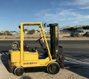 2004 Hyster S50xm Forklift 3 Stage Mast W Side Shift Lpg