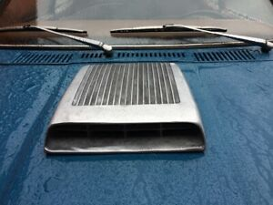 Fits Ford Mustang Falcon Hood Scoop Functional Finned Cast Aluminum Hot Rod Rat