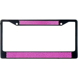 Premium Black Hot Pink Bling Crystal Diamond License Plate Frame For Car Truck