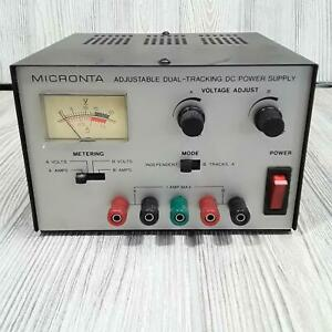Micronta Adjustabe Duel Tracking Dc Power Supply Tested