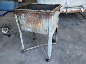 1940s 1950s Vintage Gunk Shop Decor Parts Wash Cabinet With Oil Cans Ford Chevy