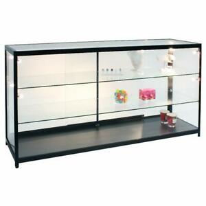 Assembled Lighted Display Case In 70 W X 19 2 3 D X 37 H Inch