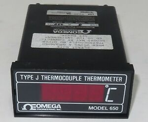 Omega Model 650 Type J Thermocouple Microprocessor Digital Thermometer works