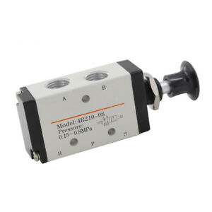 5port 2position1 4 Pt Hand Operated Air Valve Manual Pneumatic Control 4r210 08
