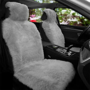 Universal Car Seat Long Wool Faux Sheepskin Cover Plushed Fur Seat Pad Cushion