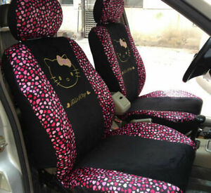 2019 Universal Hello Kitty Car Seat Front Rear Cover Accessory Set 10 Pcs