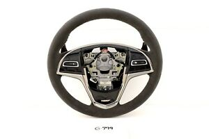 New Gm Oem Cadillac Ats 13 19 Black Suede Steering Wheel Ats V Heated 23417525