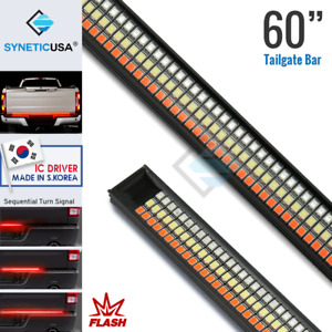 Syneticusa 60 Tailgate Led Rigid Light Bar Flash strobe Red Turn Signal Brake
