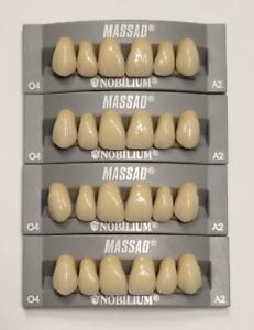 4pcs A2 Upper Massad Premium Anterior Q4 Dental Acrylic Teeth False Denture
