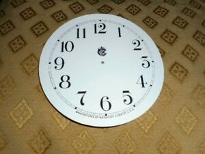 For American Clocks Waterbury Paper Card Clock Dial 124mm M T White Spares