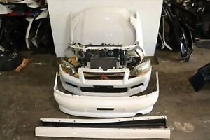 Jdm Mitsubishi Lancer Evolution 7 Gt A Front End Nose Cut Bumper Evo 7 8 Turbo