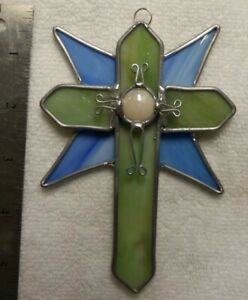 Victorian Cross Leaded Stained Glass 4