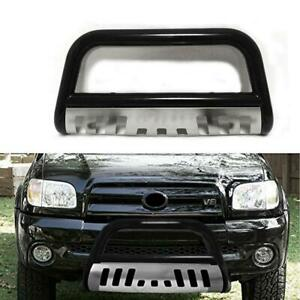 Bull Bar For 1999 2006 Toyota Tundra Push Bumper Guard In Black Stainless Steel