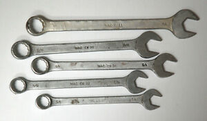 Five Mac Combination Wrenches 5 8 To 7 8 Old Style